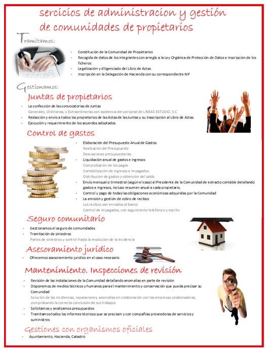 Servicios Administracion y Gestion Comunidad Propietarios