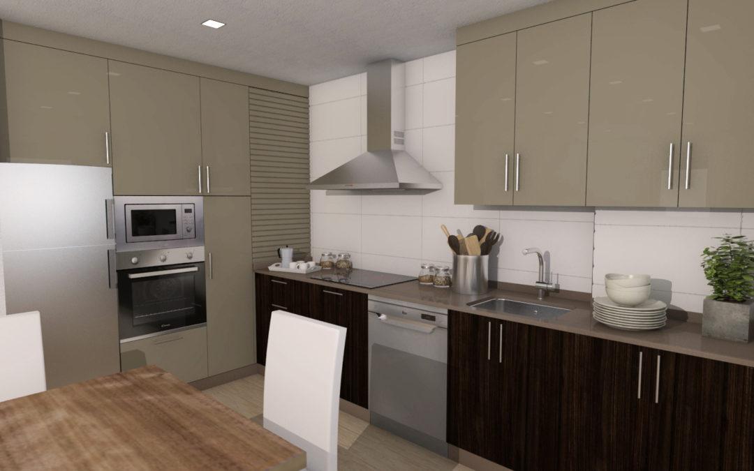 Diseño de cocina y baño para una vivienda en Melide