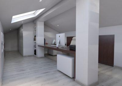 Proyecto de Interiorismo – estudio y baño en ático, Melide