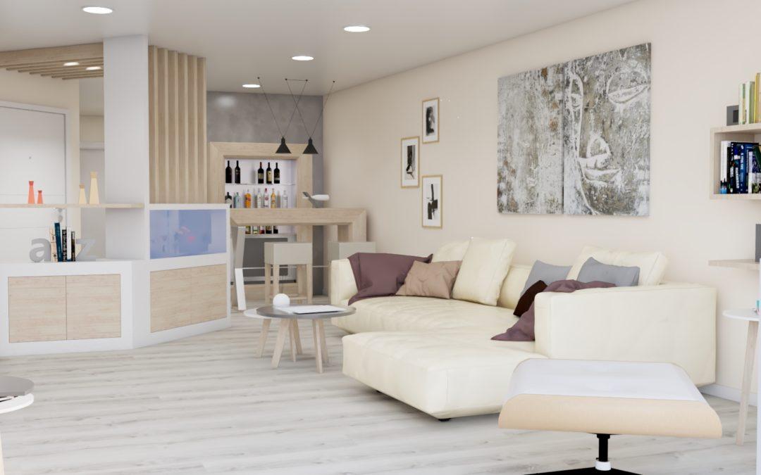 Proyecto de decoración para piso en el centro de Melide
